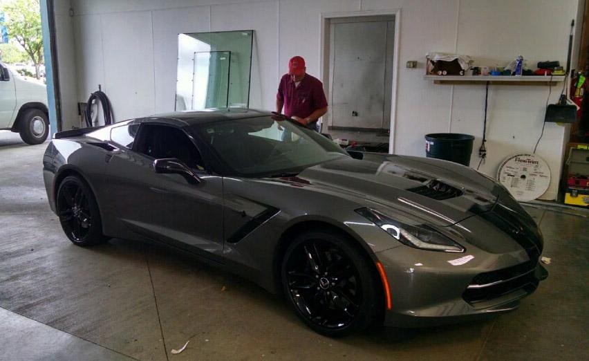 A Car in the Spokane Glass Centers Shop
