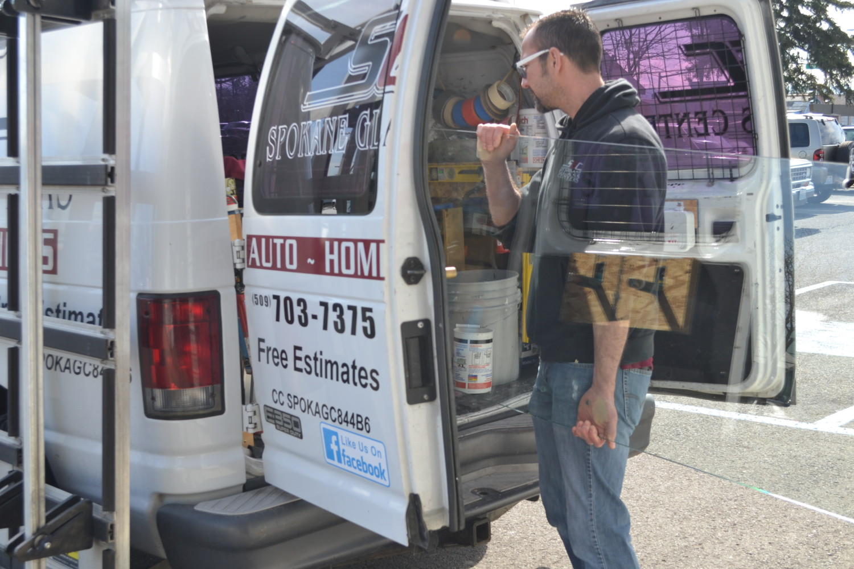 Spokane Glass Centers Loading the Van